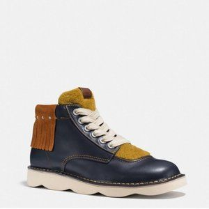 Coach Troopa High Top Shearling Derby Boots